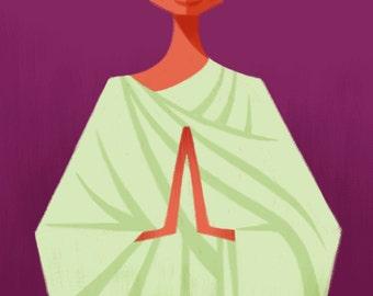 Ghandi, 11x17 print