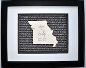 Wedding Gifts for Couple, Wedding Map Art, Wedding Song, Lyric Art Wedding Vow Art Gifts Map Print Unique Wedding Vow Present Wedding Song