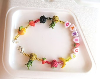 Carb Up Fruit Bracelet - Fruit jewelry - Fruit bracelet - Miniature Food Jewelry