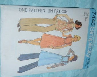 Simplicity 7448 Misses Dress Jumper or Top and Pants  sewing Pattern - UNCUT - Size 8 or Size 12