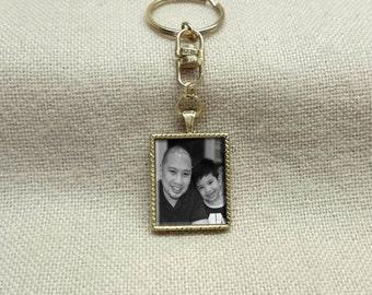 Custom Photo Keychain, Picture keychain, Photo jewelry, Personalized keychain, photo frame