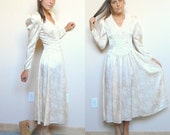 Magical Princess Gown Vintage 80's Shiny Sandy Tan Grey Sequins (Size 3-4)