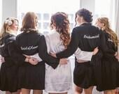 SET OF 6 Embroidered Bridesmaid Robes, Bridesmaid Gifts, Bride Robe
