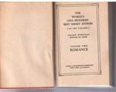 The World's One Hundred Best Short Stories - Volume Two Romance - Small HC - 1927 - First Edition