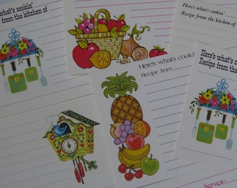 Pretty Vintage Collection Current Recipe Cards x16 Colorful Fruit and More