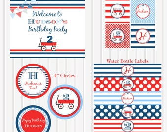 Little Red Wagon Printable PACKAGE by Marbella Printables