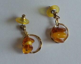 Earrings Vintage Baltic Amber