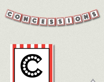 Concessions Banner, Movie Theater Party, Movie Theater Birthday, Movie Banner, Printable Banner, Movie Party Printables, Movie Night, Decor