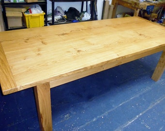 Large Handmade Oak Dining Table