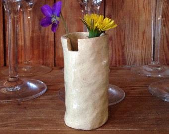 petite wildflower vase with notch