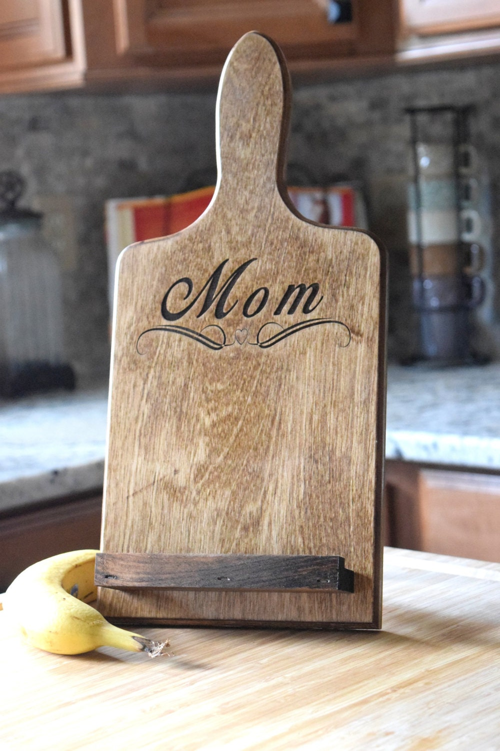 Personalized Tablet Holder Tablet Stand Wooden Tablet