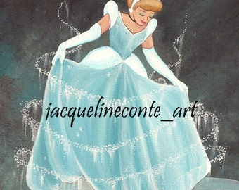 SALE!! ORIGINAL Cinderella acrylic painting 8x10 disney