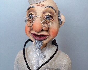"Ooak Pure Sculpt doll ""DOCTOR"""