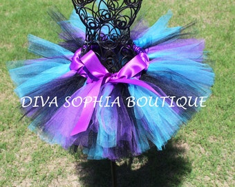 Purple, Black and Turquoise Tutu for Newborn - Infants - Toddlers