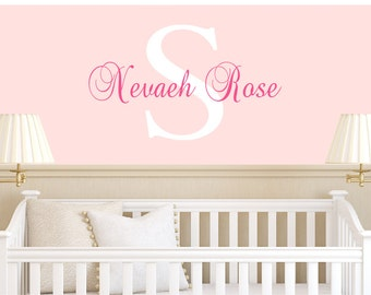 Girls Name Decal - Vinyl Decal - Baby Girl Name Decals - Personalized Kids Decal - Children Monogram Decals - Nursery Girl Decal