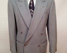 Vintage 1950s Double Breasted Suit Made by Richman Brothers Size 38 Jacket 32x31 Pants