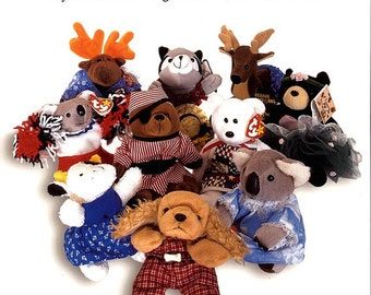 Retro Groovy Bean Bag Toys Easy To Make Clothing Furniture and Accessories for Bean Bag Animals Kathryn Severns