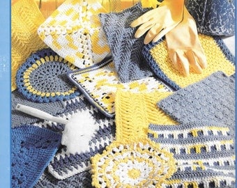 Leisure Arts The Big Book of Dishcloths 99 Designs To Crochet Clusters Puff Stitches Cross Stitches Fiber Arts