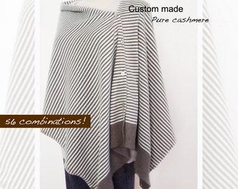 Pure cashmere shrug / Women shrug / Pure cashmere scarf / Cashmere poncho multiwear / Cashmere vest/Cashmere shawl/Pure cashmere/Shrug/Shawl