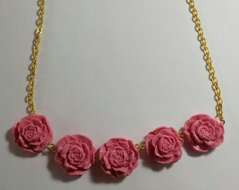Dusty Rose Statement Necklace