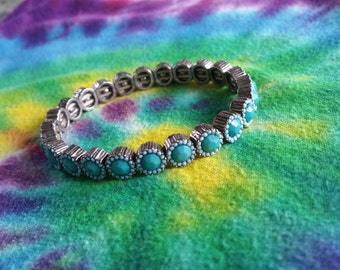 Turquoise gem bracelet
