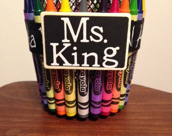 Crayon Cup, Teacher Gift, Pen Holder, Pencil Holder