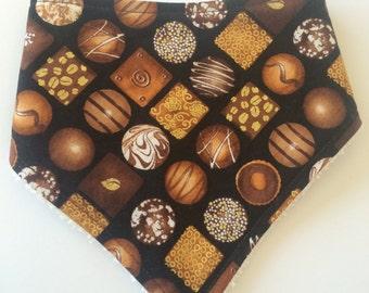Dribble Bib - Baby Shower - Baby Gift - Gender Neutral - Chocolate