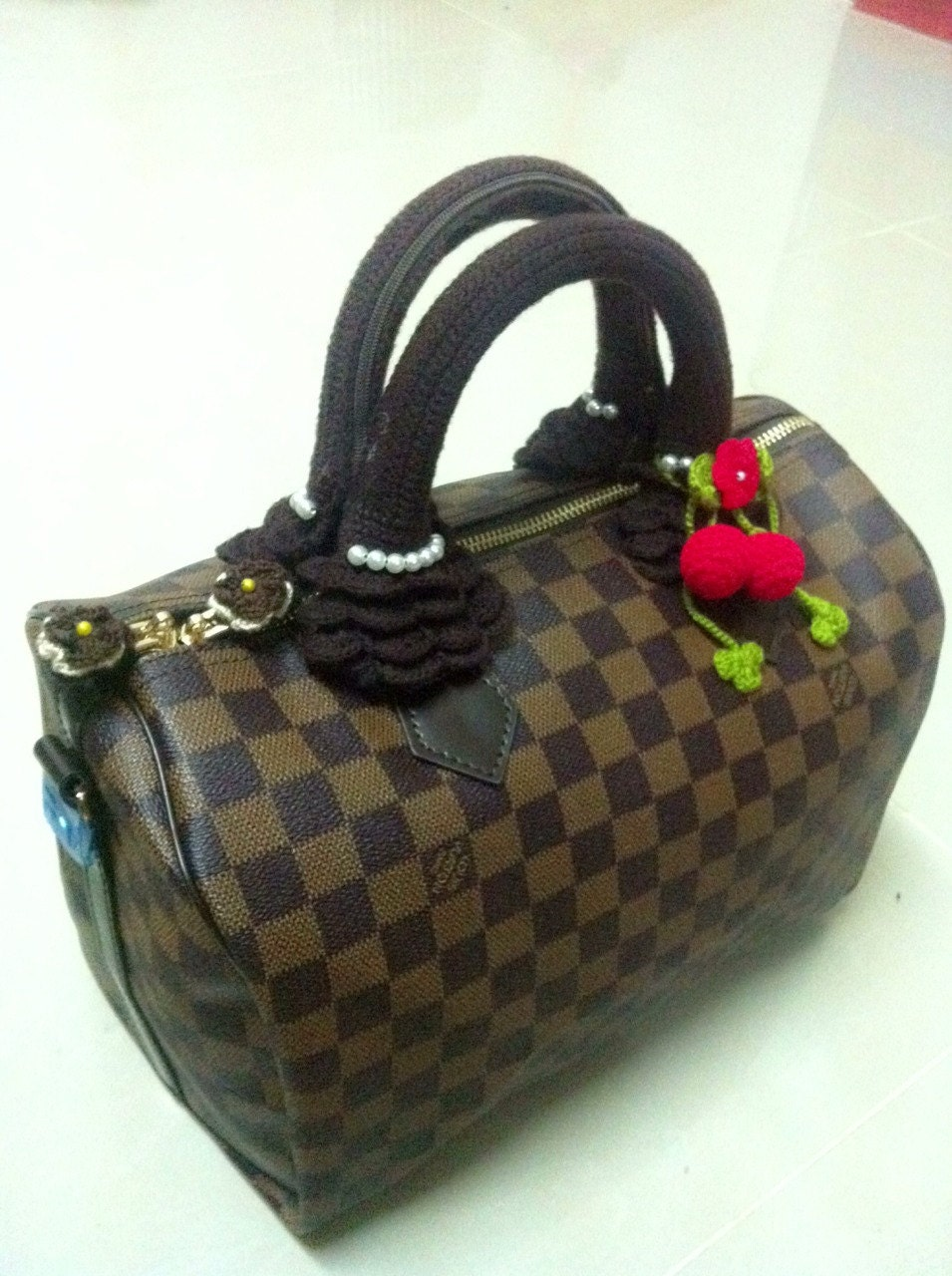 Crochet Bag Handle Cover Pattern : Bag Handle.Louis Vuitton handle covers for LV SPEEDY crochet
