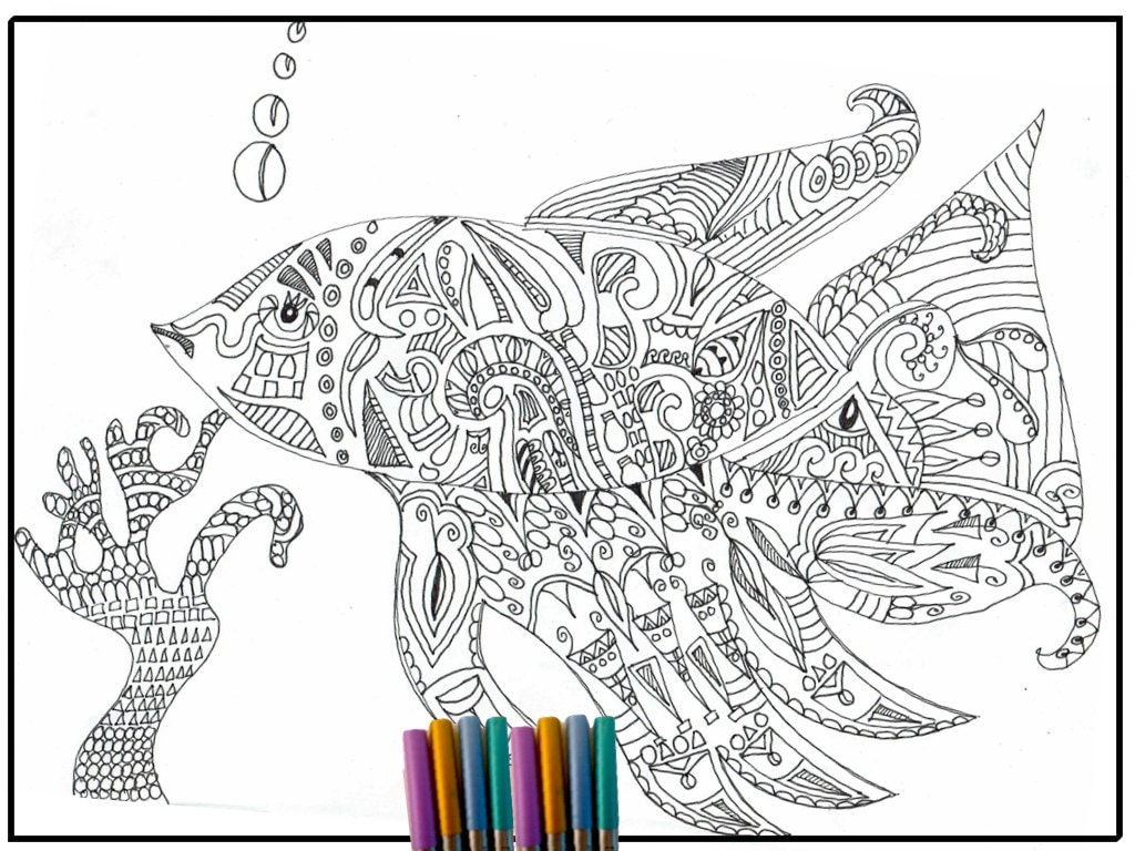 Coloring pages for adults zentangle -  Zoom