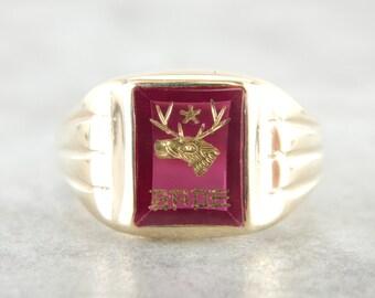 Vintage Brotherhood of the Elks Men's Fraternal Ring EXW7FH-N
