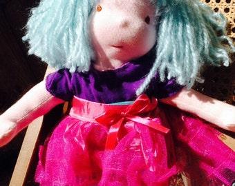 15 inch Vegan Friendly Waldorf Style Cloth Doll