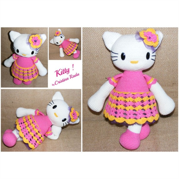 Crochet Hello Kitty amigurumi doll dollhouse Kitty by ...