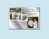 25th Anniversary Party Invitation - Printable - Past and Present Silver Anniversary
