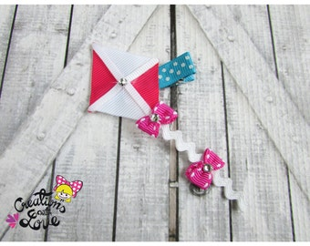 Kite Ribbon Sculpture Hair Clip. Kite Hair Clip.