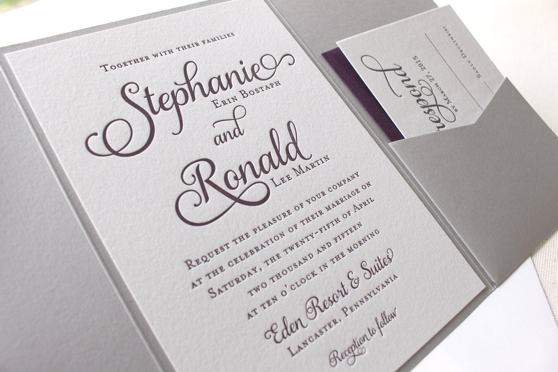 violet wedding invitations | Wedding