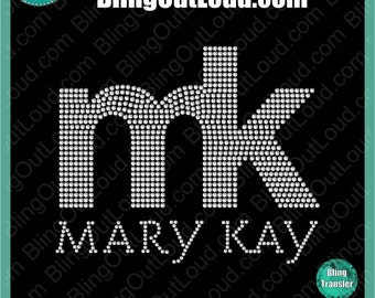 Mary Kay Block Logo DIY Bling Rhinestone Transfer