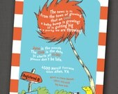 Dr. Seuss Baby Shower Invitation 5x7: Printable and Customizable