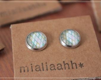 """""""Spring diamond"""" Stud EARRINGS 10 mm"""
