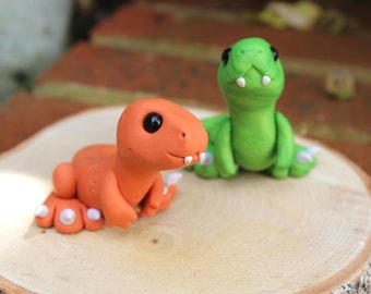 Cute Baby T-rex sculpture (Orange)