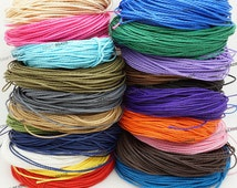 1mm Wax Polished Polyester Twisted Cord Macrame Jewlery Making String - 20 Yards