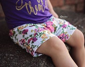 Floral Baby Girl Shorts/ Toddler Shorts/ Baby Shorts/ Baby Shorties/ Baby Girl Clothes/ Newborn Girl/ Baby Gift/ Kids Shorts/ Baby Outfits