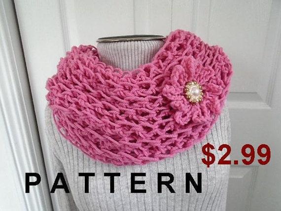 Beginner Crochet Patterns Cowl : CROCHET PATTERN Quick Easy Cowl easy beginner Pink