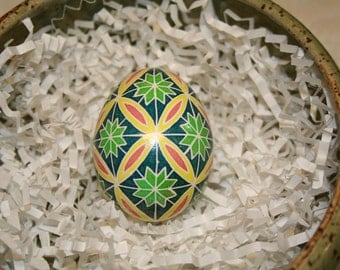 Ribbon & Star Ukrainian egg