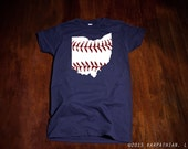 FREE SHIPPING Ohio baseball Ladies junior fit t-shirt Buy Any 3 Shirts Get a 4th FREE
