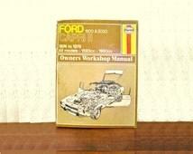 Vintage car manual Ford Capri II Owners Workshop Manual for all models 1593 cc 1993cc 1970s British American Illustrated Car Guide Hardback