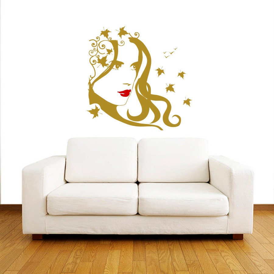 Wall decals beauty salon hair vinyl decal interior by for Stickers salon