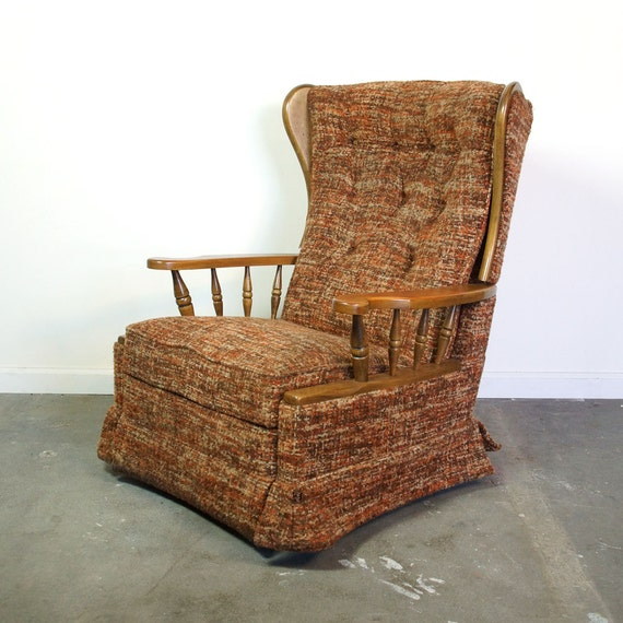 mid century recliner vintage 1960s 1970s la z boy rocker. Black Bedroom Furniture Sets. Home Design Ideas