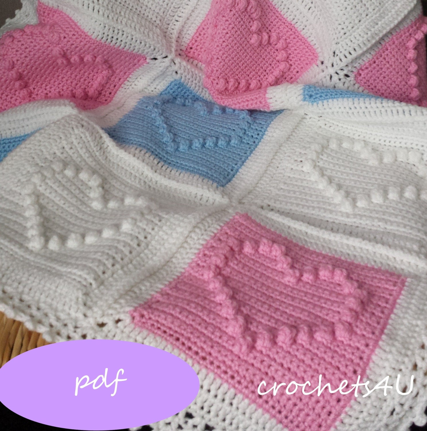 Crochet Afghan Patterns With Hearts : crochet pattern heart afghan crochet blanket pattern baby