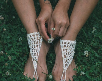 TWINKLE TOES hand crocheted Barefoot Sandals