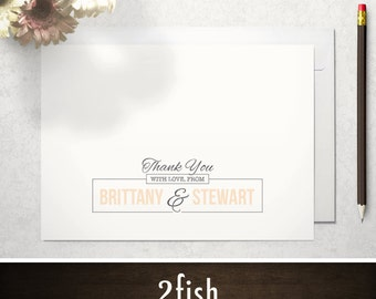 Wedding Thank You Cards / Thank You Notes - Printed or Printable, 4x5.5 or 5x7 - Classic, Traditional, Rustic (Go the Distance)